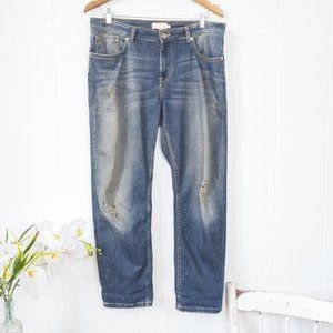 Ted Baker Distressed Boyfriend Jeans